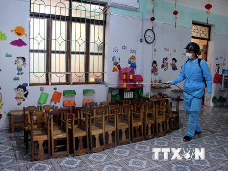 Hướng dẫn  phòng chống dịch bệnh khi học sinh trở lại trường học | Giáo dục | Vietnam+ (VietnamPlus)