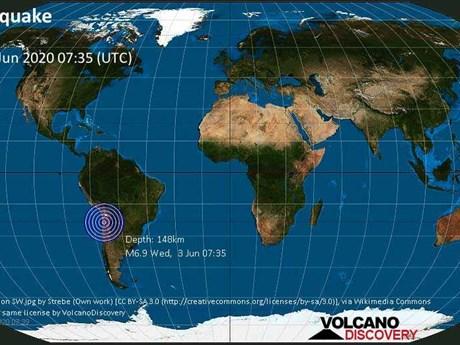 Động đất mạnh 6,8 độ làm rung chuyển miền Bắc Chile