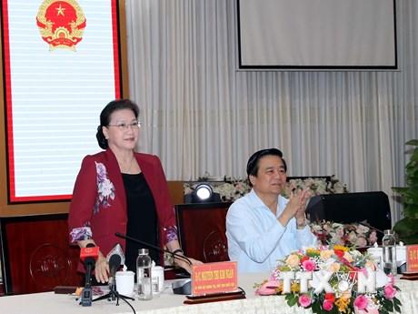 Chủ tịch Quốc hội đề nghị Long An tăng cường thúc đẩy kinh tế vùng | Chính trị | Vietnam+ (VietnamPlus)