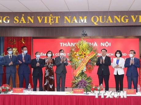 Bí thư Thành ủy Hà Nội Vương Đình Huệ thăm Bệnh viện Thanh Nhàn