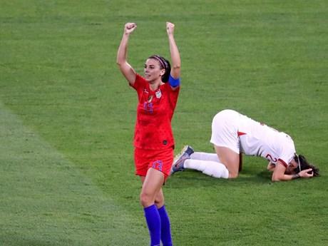 Đánh bại Anh, Mỹ lần thứ 5 góp mặt ở chung kết World Cup nữ   Bóng đá   Vietnam+ (VietnamPlus)