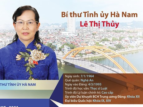 [Infographic] Chân dung tân Bí thư Tỉnh ủy Hà Nam Lê Thị Thủy | Chính trị | Vietnam+ (VietnamPlus)