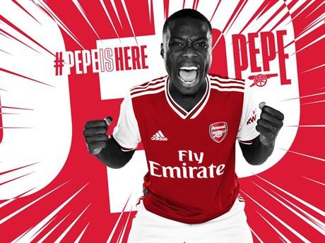Arsenal chiêu mộ thành công tân binh đắt giá nhất lịch sử | Bóng đá | Vietnam+ (VietnamPlus)