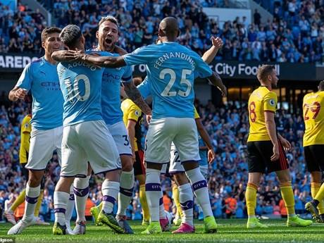 Manchester City đi vào lịch sử sau chiến thắng hủy diệt 8-0 | Bóng đá | Vietnam+ (VietnamPlus)