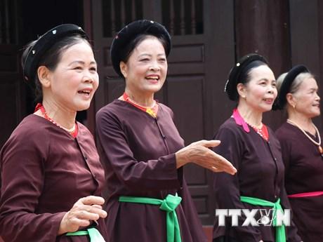 Độc đáo di sản nghệ thuật hát Trống quân Bùi Xá ở Bắc Ninh