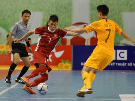 Việt Nam hạ Australia ở trận ra quân giải Futsal Đông Nam Á 2019 | Bóng đá | Vietnam+ (VietnamPlus)