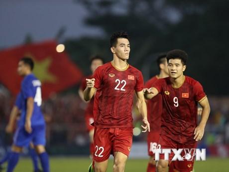 U22 Việt Nam đấu U22 Campuchia ở bán kết SEA Games 30 | Bóng đá | Vietnam+ (VietnamPlus)