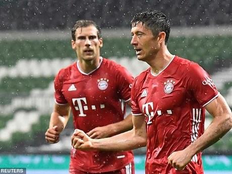 Bayern Munich lần thứ 8 liên tiếp giành chức vô địch Bundesliga   Bóng đá   Vietnam+ (VietnamPlus)