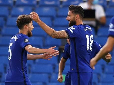 Olivier Giroud lập công giúp Chelsea giành chiến thắng quý giá | Bóng đá | Vietnam+ (VietnamPlus)