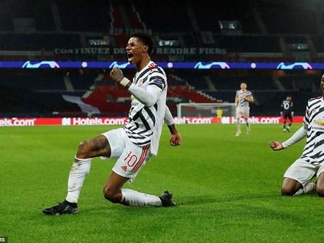Bruno và Rashford lập công giúp M.U đánh bại Paris Saint Germain