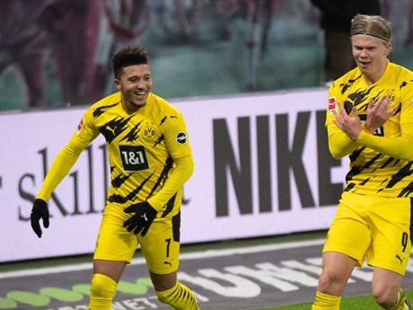 Sancho và Haaland ghi bàn, Dortmund ngăn RB Leipzig lên ngôi đầu