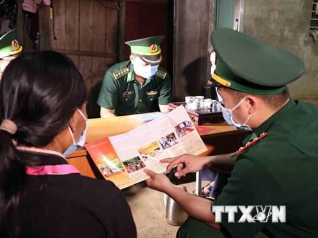 Lực lượng Biên phòng Lai Châu đa dạng hình thức tuyên truyền bầu cử