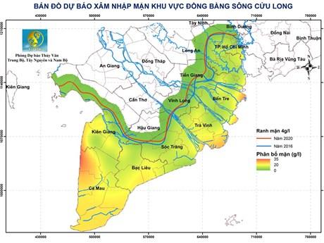 Xâm nhập mặn ở Vựa lúa số 1 Việt Nam: Đầu tuần giảm, cuối tuần tăng | Môi trường | Vietnam+ (VietnamPlus)