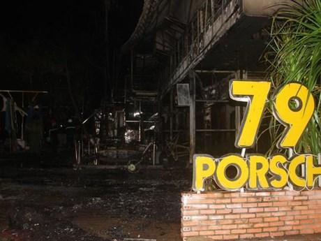Đắk Lắk: Quán bar bốc cháy lúc nửa đêm, hàng chục khách tháo chạy | Xã hội | Vietnam+ (VietnamPlus)