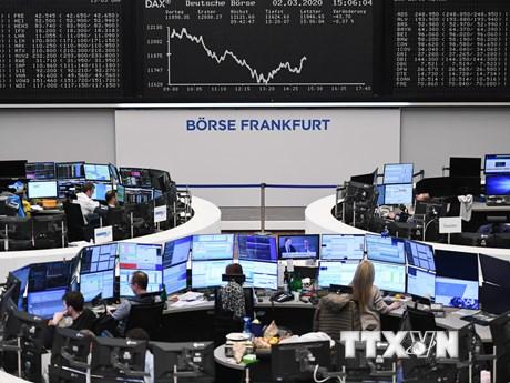 Chứng khoán Âu-Mỹ đồng loạt tăng điểm trong phiên 9/4