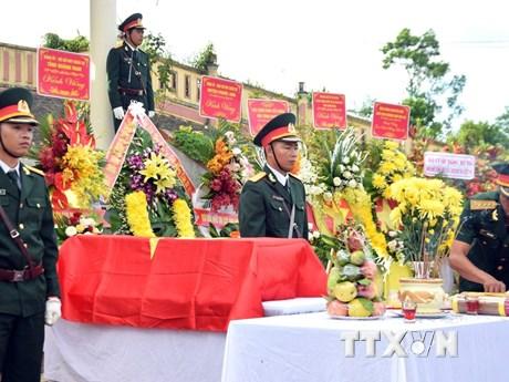 Quảng Nam: Truy điệu và an táng hài cốt 17 liệt sỹ tại huyện Phước Sơn