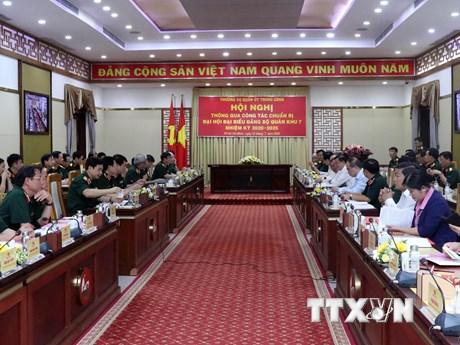Thông qua công tác chuẩn bị Đại hội Đảng bộ Quân khu 7 lần thứ X | Chính trị | Vietnam+ (VietnamPlus)