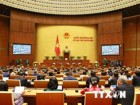 Thông cáo báo chí số 1 Kỳ họp thứ 11, Quốc hội khóa XIV