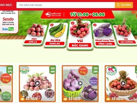 Phiên chợ nông sản Việt trực tuyến lên sàn thương mại điện tử Sendo - kết quả vietlott 09022020