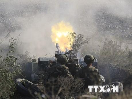 Lính Nga thực hành đổ bộ và chống đổ bộ trong cuộc...