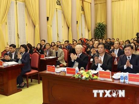 Tổng Bí thư dự Hội nghị triển khai nhiệm vụ 2021 của VP Chủ tịch nước