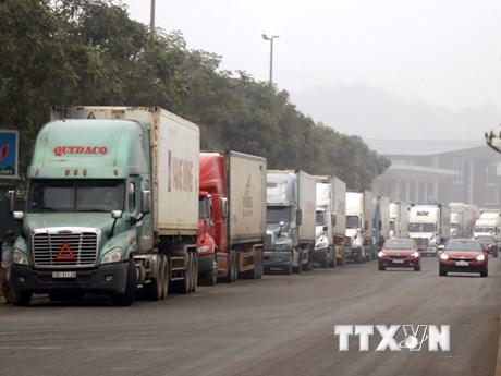 Hàng nghìn xe container bị mắc kẹt ở cửa khẩu Kim Thành-Lào Cai