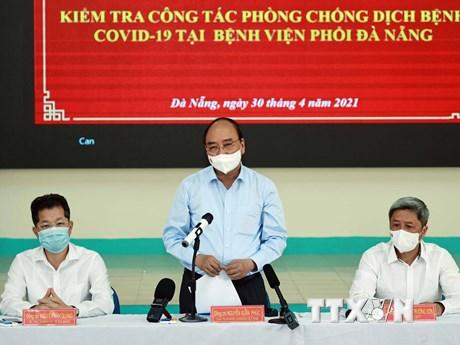 Chủ tịch nước kiểm tra công tác phòng, chống dịch COVID-19 ở Đà Nẵng