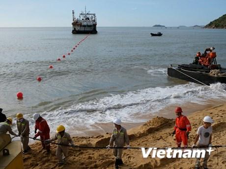 VNPT tăng cường kết nối internet quốc tế với cáp quang biển SJC2-PV   Công nghệ   Vietnam+ (VietnamPlus)
