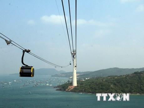 [Photo] Du xuân thú vị qua tuyến cáp treo trên đảo Phú Quốc