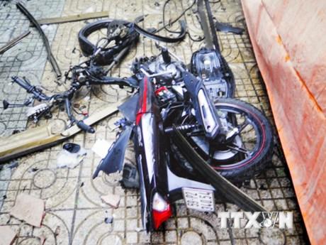 Hiện trường vụ khủng bố, gây nổ tại trụ sở cơ quan công an
