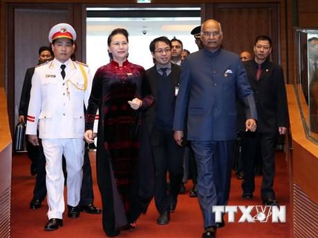 Tổng thống Ấn Độ Ram Nath Kovind phát biểu tại Quốc hội Việt Nam