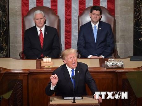Tổng thống Mỹ Donald Trump sẽ đọc thông điệp liên bang theo dự kiến