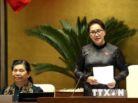 Chủ tịch Quốc hội: Các đại biểu hài lòng về nội dung trả lời chất vấn | Chính trị | Vietnam+ (VietnamPlus)