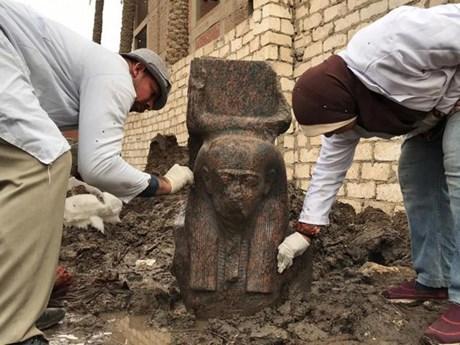 Ai Cập phát hiện tượng bán thân quý hiếm của vị Vua cổ đại Ramses II  | Khoa học | Vietnam+ (VietnamPlus)
