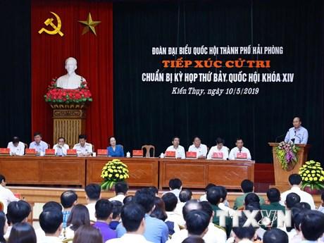 Thủ tướng Nguyễn Xuân Phúc tiếp xúc cử tri thành phố Hải Phòng   Chính trị   Vietnam+ (VietnamPlus)