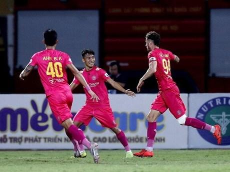 Hạ Hải Phòng, Sài Gòn FC leo lên ngôi đầu với thành tích bất bại | Bóng đá | Vietnam+ (VietnamPlus)