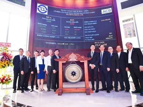 Hơn 2,16 tỷ cổ phiếu ACB chính thức niêm yết giao dịch trên HOSE
