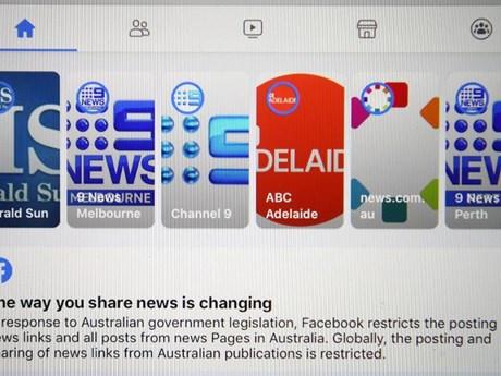 Toàn cảnh cuộc đối đầu giữa Australia và công ty Facebook   Truyền thông   Vietnam+ (VietnamPlus)