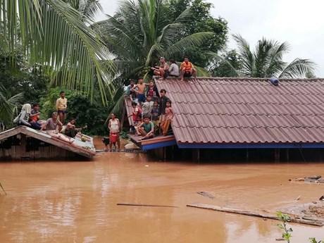 Hình ảnh mới nhất về thảm họa vỡ đập thủy điện tại Lào