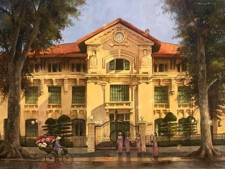 ''Mùa COVID,'' nhớ Hà Nội nắng vàng qua tranh của một người yêu Thủ đô