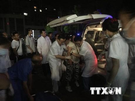 Các nạn nhân động đất được chữa trị kịp thời nhờ xe cứu thương mạng 5G | Công nghệ | Vietnam+ (VietnamPlus)