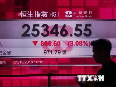 Chứng khoán châu Á đa số đi xuống do nhà đầu tư chốt lời  | Chứng khoán | Vietnam+ (VietnamPlus)