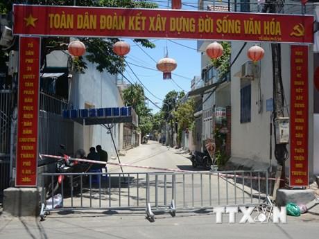 Hình ảnh Đà Nẵng phong tỏa khu dân cư có người nghi mắc COVID-19 | Y tế | Vietnam+ (VietnamPlus)
