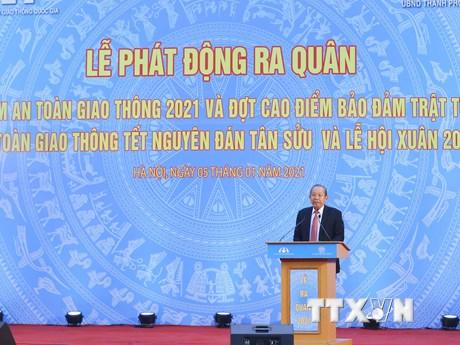Phó Thủ tướng Trương Hòa Bình dự Lễ phát động Năm An toàn giao thông