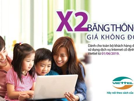 Viettel sẽ nhân đôi băng thông dịch vụ Internet giá không đổi từ 1/6 | Công nghệ | Vietnam+ (VietnamPlus)