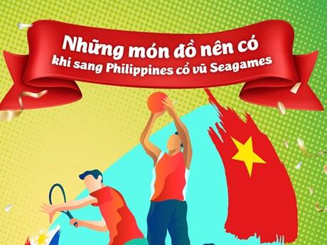 [Infographic] Những món đồ nên có khi sang Philippines cổ vũ SEA Games | Thể thao | Vietnam+ (VietnamPlus)