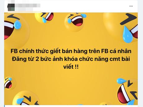 Vụ Facebook chặn bình luận trên trang cá nhân: Do lỗi hệ thống