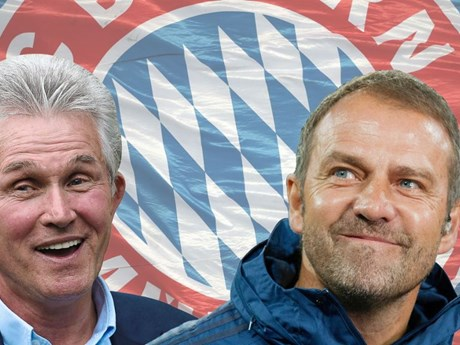 Chiếc 'ghế nóng' ở Bayern Munich: Sự tương đồng giữa Hansi và Jupp | Bóng đá | Vietnam+ (VietnamPlus)