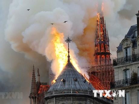 Nồng độ chì cao xung quanh khu vực vụ cháy Nhà thờ Đức Bà Paris   Đời sống   Vietnam+ (VietnamPlus)