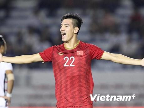 Tiến Linh: 'U22 Việt Nam sẽ có 100% thể lực ở chung kết SEA Games 30' | Bóng đá | Vietnam+ (VietnamPlus)